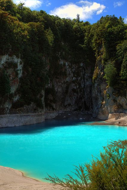 Inferno Crater Lake ~ Waimangu, North Island, New Zealand