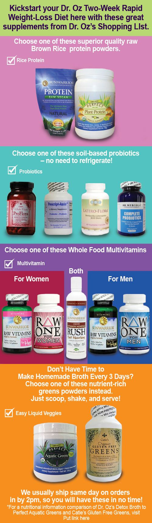 Dr. Oz 2 Week Diet: Enjoy Your Two Week Rapid Weight Loss! by Colleen Russell Last week, Dr. Oz announced his new 2 week diet plan; the Dr. Oz Two Week Rapid Weight Loss Diet. We love a diet plan...