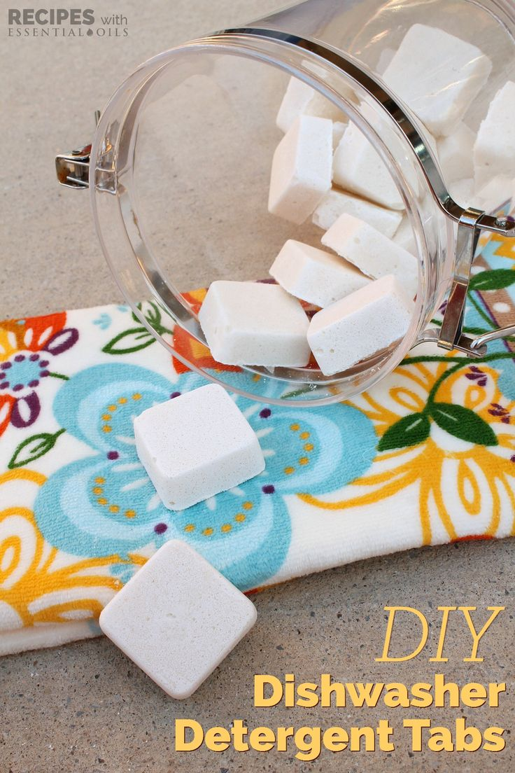 Homemade Dishwasher Detergent Tabs from RecipesWithEssentialOils.com