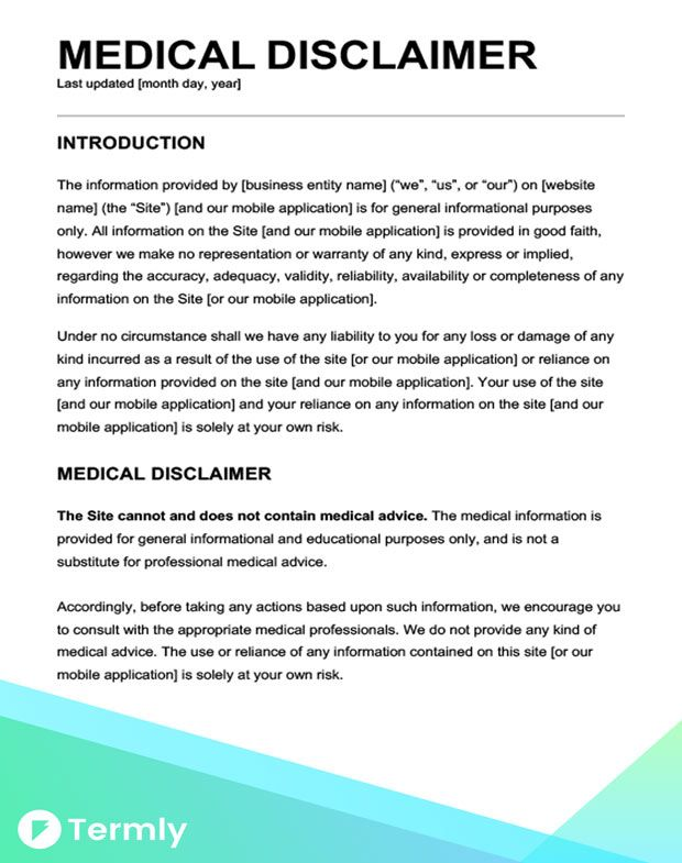 Sample Disclaimer Template Examples Free Download Templates