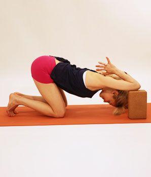 54 best yoga block poses images on pinterest  yoga block