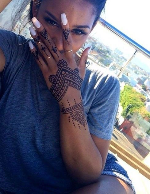 Henna idea. Real tattoo