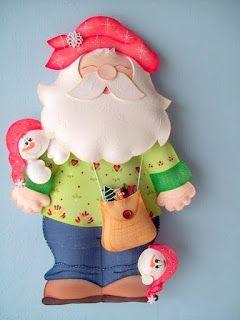 Las chorradikas de Laury: Patrones papa Noel en fieltro o goma eva