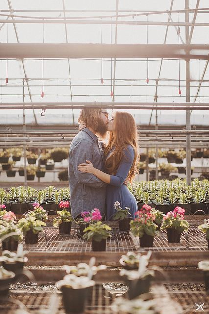 Winter Greenhouse Engagement by Sarah K. Byrne amazing place to shoot!
