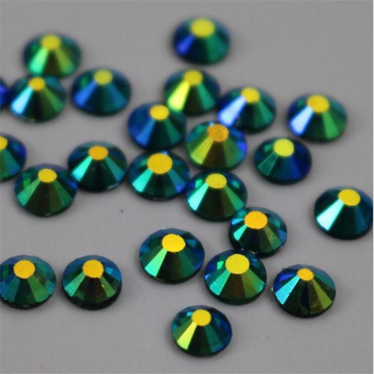 IDFIAF SS30 (6.-6.2) mm 288 adet Koyu Yeşil AB Flatback Rhinestones Cam Parlak Kristaller Tutkal-on Taşlar Taşlar Elbise için Dekorasyon(China (Mainland))