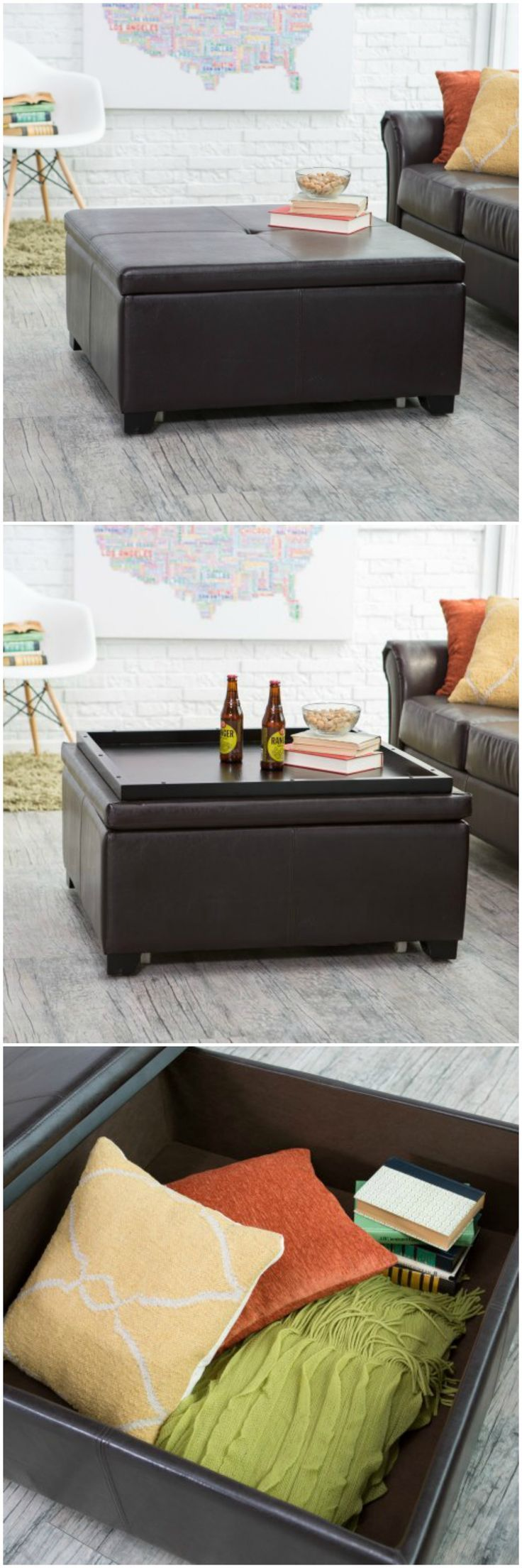 Ottoman, coffee table, storage.                                                                                                                                                                                 More