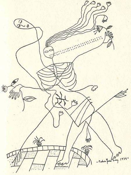 Six drawings by Federico García Lorca (1898-1936)