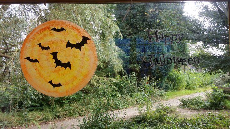 Halloween raam schildering