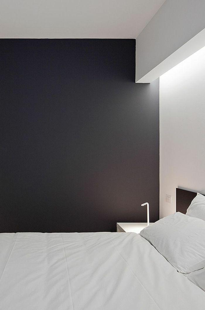 comiche eclairage indirect pour les murs noirs