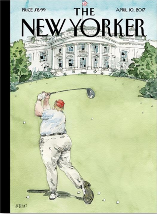 Go The New Yorker great cover.  Will 45 let you get away with this?
