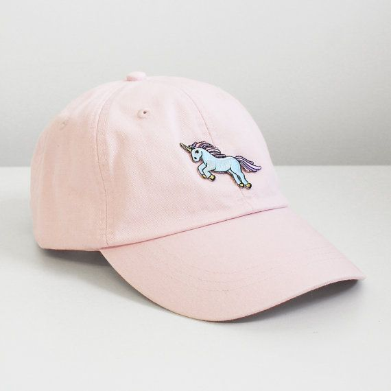 Unicorn Embroidered Baseball Hat - Your Choice of Cap Color with Patch - White…