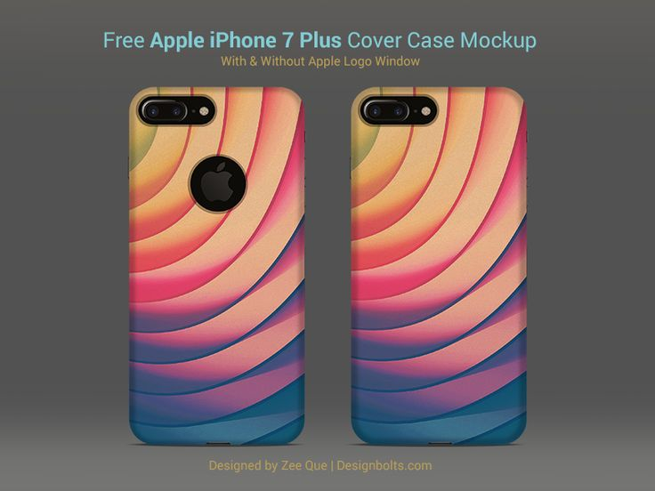 Free Apple Iphone 7 Plus Back Cover Case Mock Up Psd Free Iphone Iphone 7 Cases Iphone 7 Plus