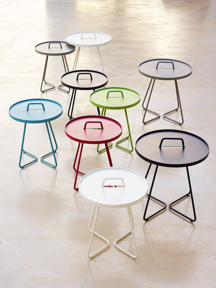 On-the-move side tables - 2016 - nice colors.
