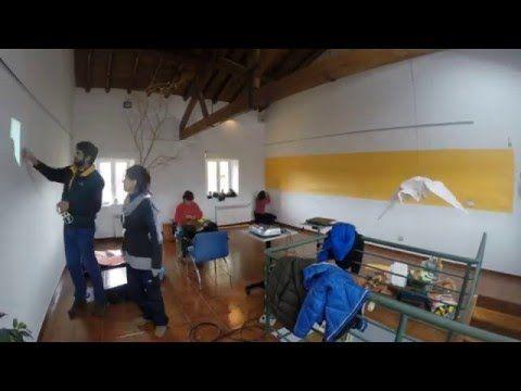 """Time Lapse de la instalación audiovisual """"1.000 grullas para la paz"""""""