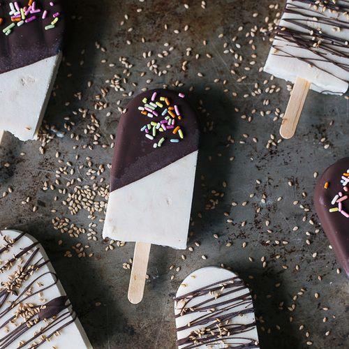 A CONSTELLATION OF VITAL PHENOMENA book club menu: Halva popsicles via My Name is Yeh