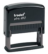 """Trodat 4917 Custom Self-Inking Stamp 3/8"""" X 1-15/16"""". Up to two lines of custom message."""