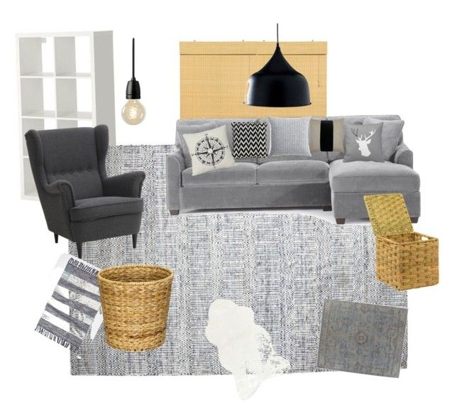 """Untitled #2"" by zsuzsa-szekely on Polyvore featuring interior, interiors, interior design, home, home decor, interior decorating, Pier 1 Imports, Exquisite Rugs, Squarefeathers and Nud"