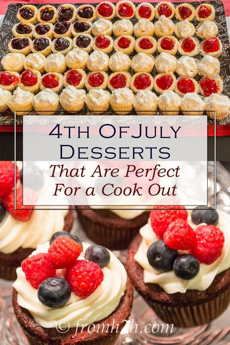4th of July Desserts That Are Perfect For A Cook Out | Looking for the perfect dessert for your Memorial Day or July 4th BBQ? Check out this list of patriotic desserts that are perfect for a cook out.