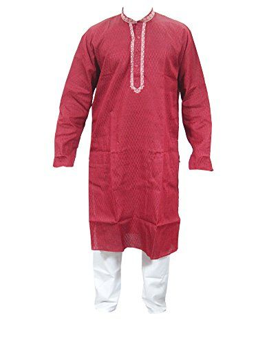 Mogul Red Silk Kurta Pajamas Set for Men's Traditional Wear Indian Dress Mogul http://www.amazon.com/dp/B013UAV8AW/ref=cm_sw_r_pi_dp_CpsZvb0H1MSAM