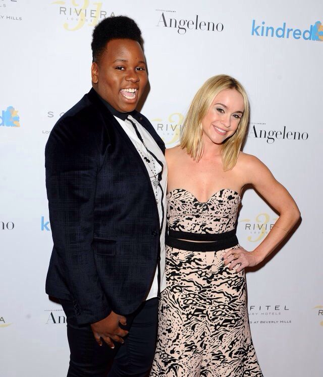 Becca Tobin and Alex Newell at the Kindred Foundation for Adoption's Inaugural Fundraiser