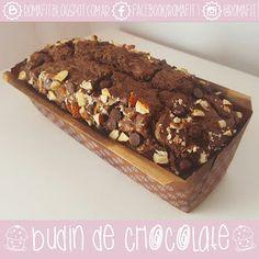 Recetas Fit Para Gente Común: Budín de chocolate! Light, fit y saludable. Sin azúcar! ♥