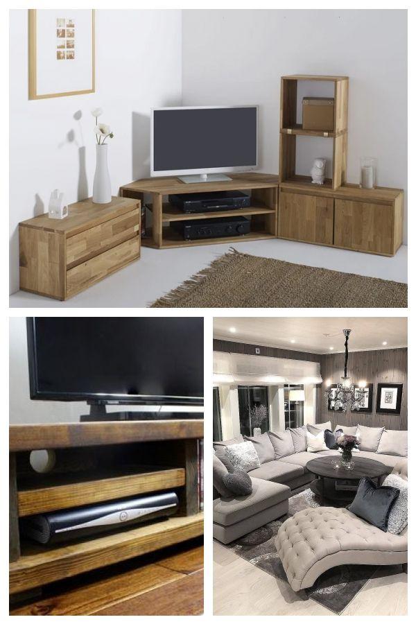 Meuble Tv D Angle Chene Massif Edgar Home Decor Tv Cabinets