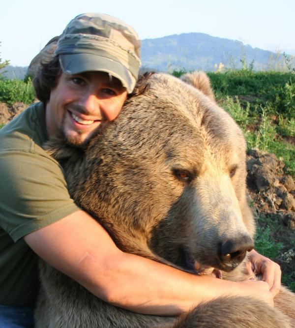 meet casey and brutus the man bear bromance