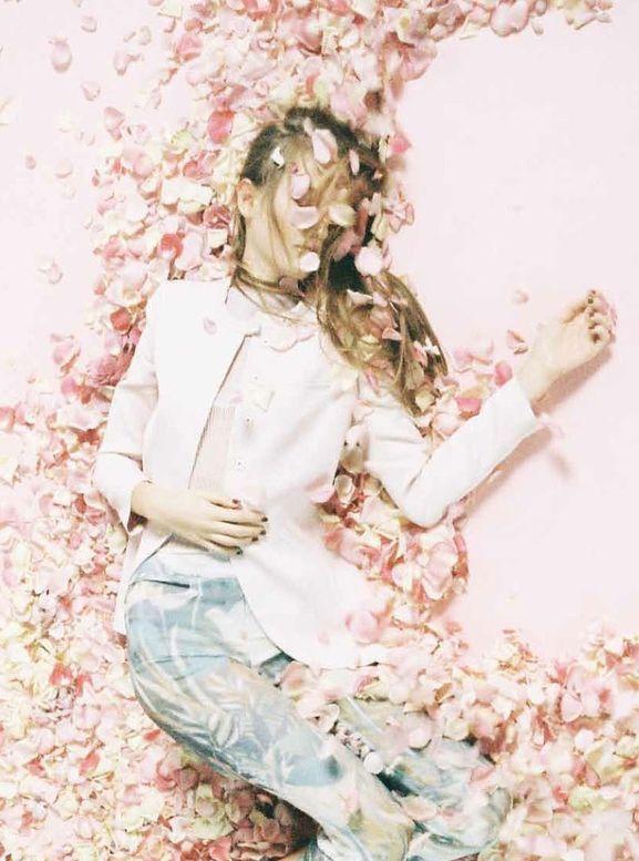 Emporio Armani: Flower Splash. Angelina @ White Model Management photographed by Yoshiyuki Okuyama for Ginza Magazine May 2014.