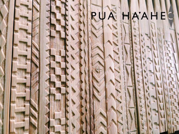Collection of Ohe Kapala hairpieces #Hawaii #Bamboo #Art #Puahaaheo