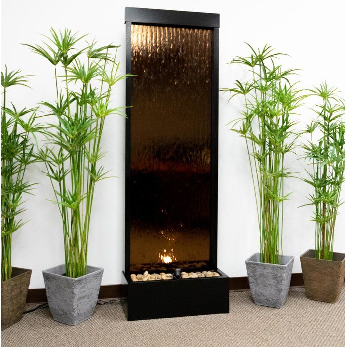Metal Mirror Waterfall Fountain With Light Waterfall Fountain Indoor Waterfall Metal Mirror