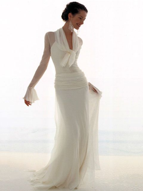 Gorgeous Soft Flowing Dress: Wedding Dressses, Digio, Chiffon Wedding Dresses, Elegant Dresses, Brides, The Bride, Le Spose, To Thu, White Gowns