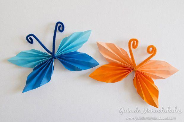 Mariposas con papel! - Manualidades GratisManualidades Gratis