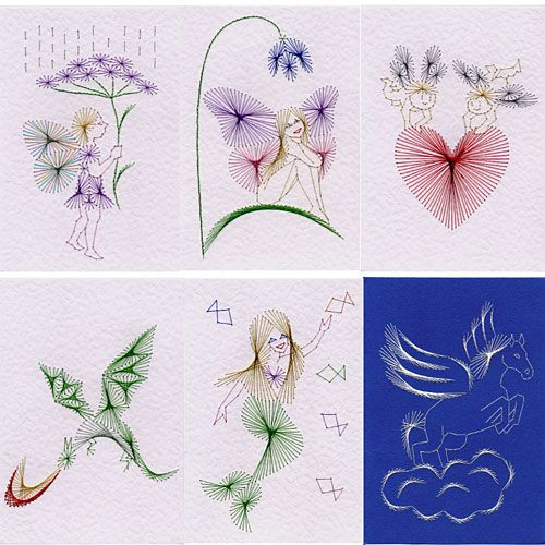 Stitching cards value pack no fantasy applique