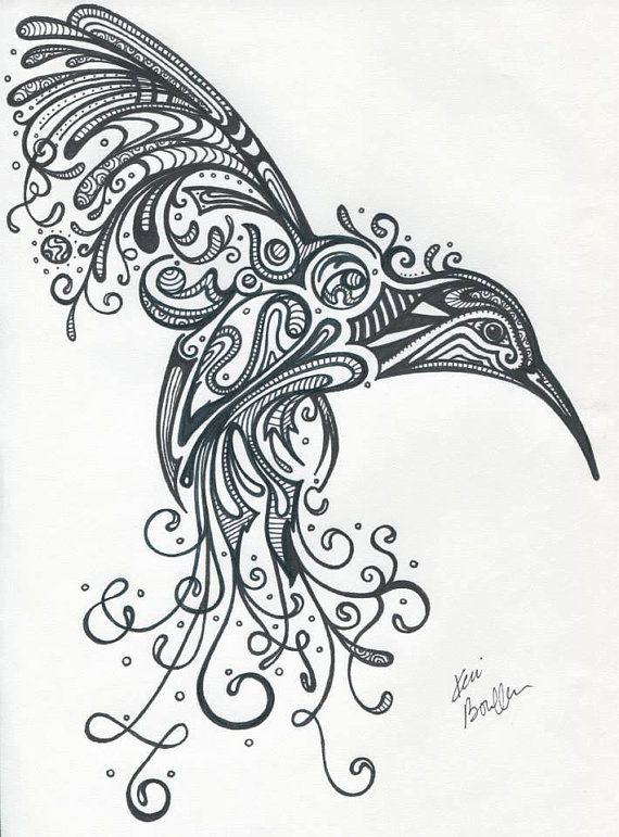 Awesome Hummingbird by SharpieImage on Etsy, $10.00
