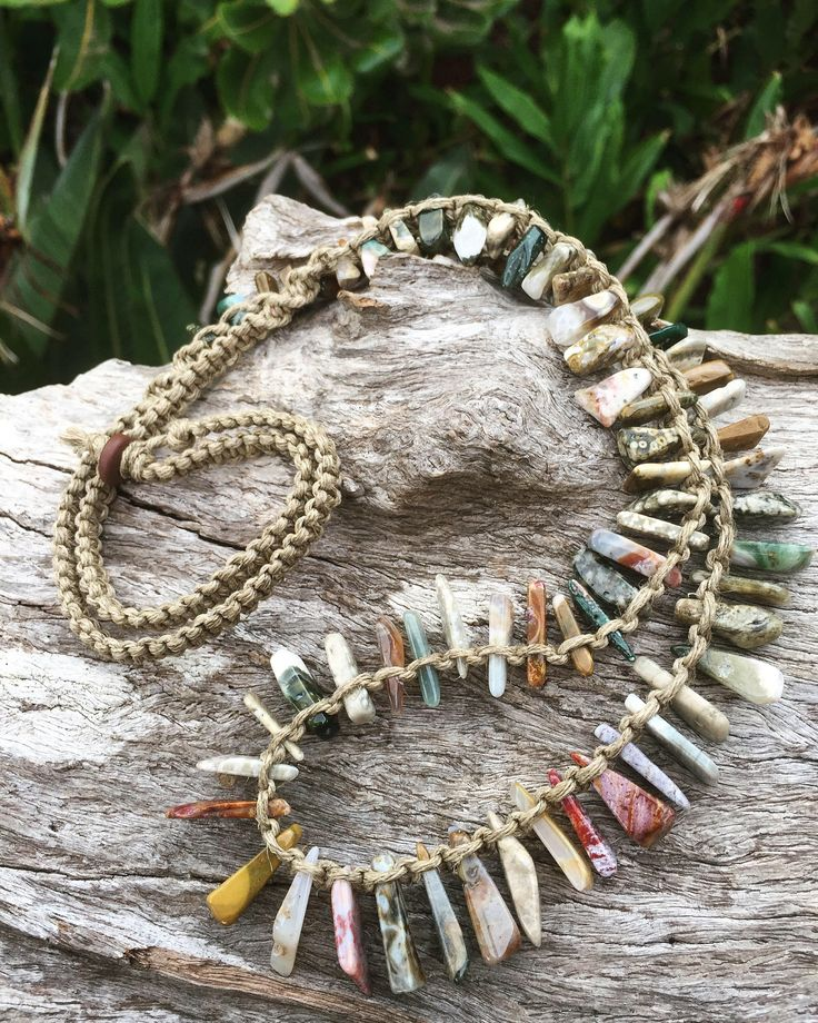 A personal favourite from my Etsy shop https://www.etsy.com/au/listing/563982919/handmade-hemp-macrame-necklace-with