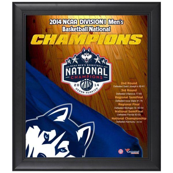 UConn Huskies 2014 NCAA Men's Basketball National Champions Framed 15'' x 17'' Collage