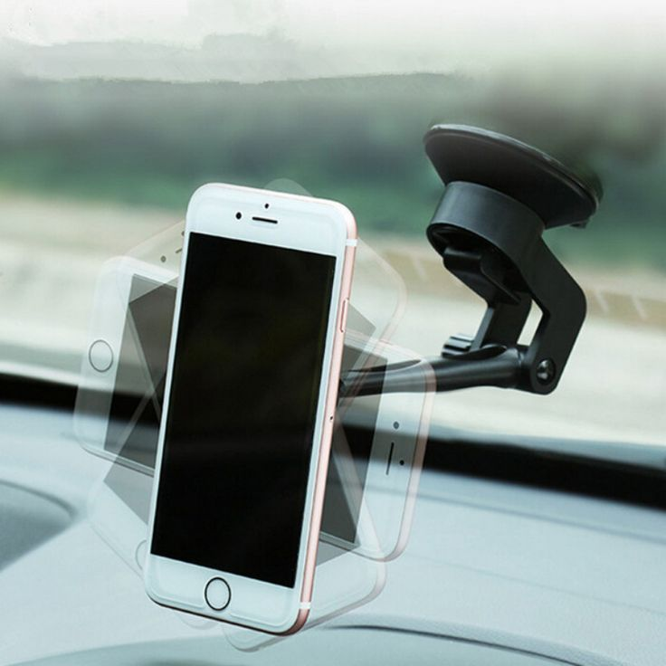 2 in 1 Magnetic Phone Stand Suction Cup Car Air Outlet Holder Mount with Magnet Head for iPhone Samsung Xiaomi Black - Tmart