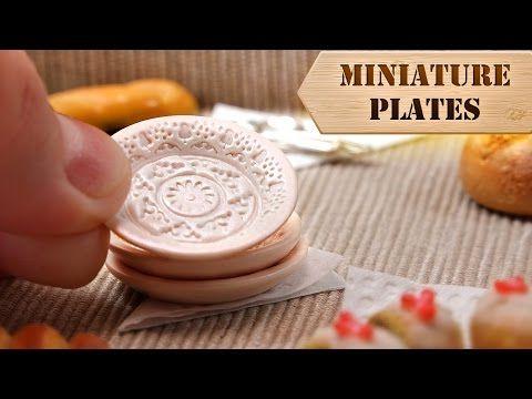 Miniature Vintage Plates Tutorial                                                                                                                                                      More