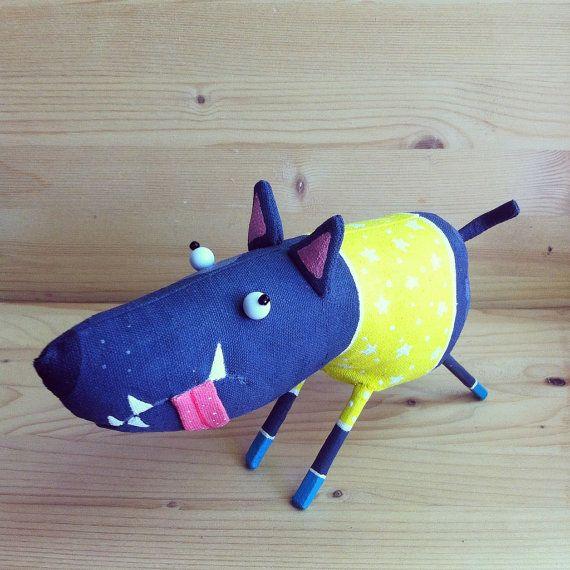 funny dog  interior toy by MarLitoys on Etsy