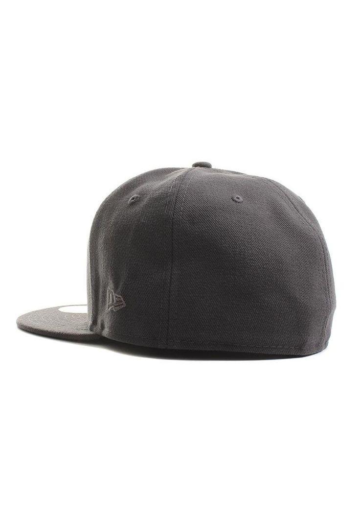 Men/'s Blank Cap Graphite New Era Plain Tonal 59Fifty Fitted Hat