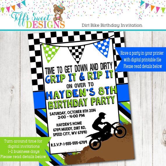 31 best dirt bike party images on pinterest dirt bike party motorcycle boy dirt bike birthday party by tiffssweetdesigns filmwisefo Gallery
