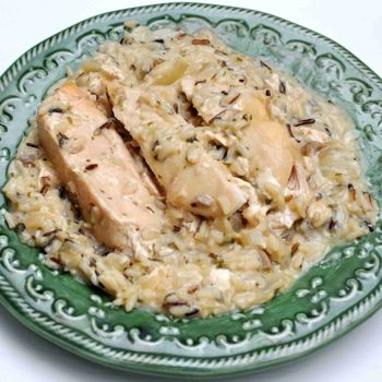 Slow Cooker Chicken and Wild Rice: Crock Pot, Cream Of Mushroom, Slow Cooker Chicken, Crockpot, Wild Rice, Slowcooker, Rice Recipe, Chicken Breast, Wildrice