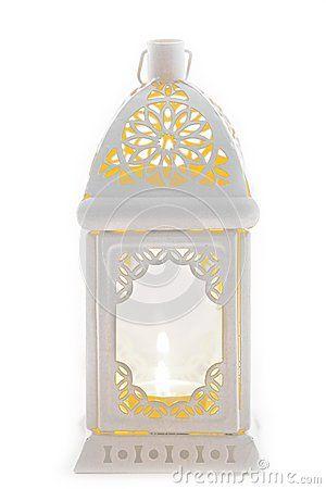 Witte decoratieve lantaarn in de oude stijl