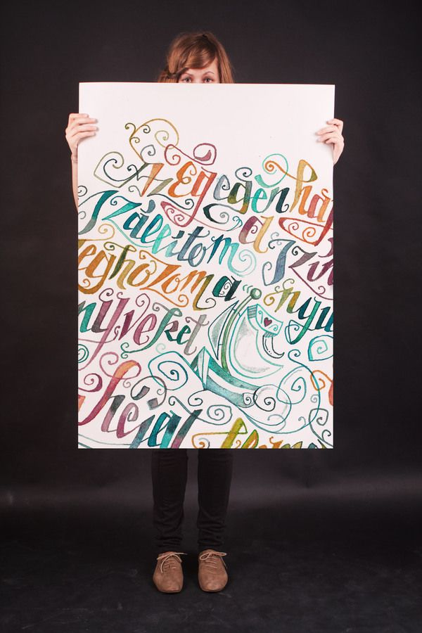 Poems in Calligraphy by Boglárka Nádi, via Behance