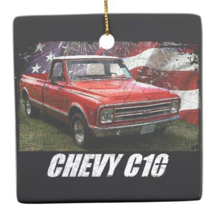 1967 C10 Fleetside Ceramic Ornament - antique gifts stylish cool diy custom