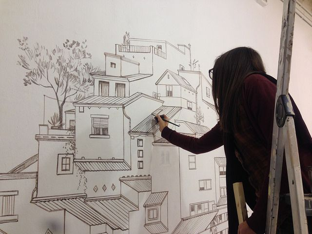Exclusive interview cinta vidal agulló discusses her paintings of inverted architecture