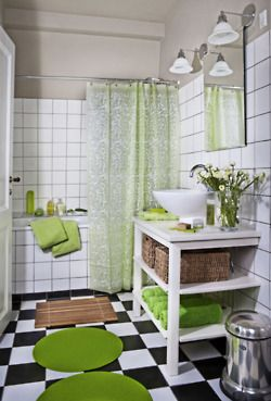 20 best Home Apple Green Bathroom images on Pinterest | Bathroom ...
