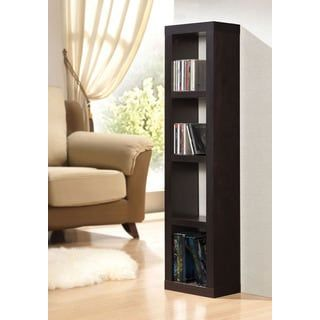 Shop for Carmeno Espresso Bookshelf with CD/DVD Unit. Get free shipping at Overstock.com - Your Online Furniture Outlet Store! Get 5% in rewards with Club O! - 17131577