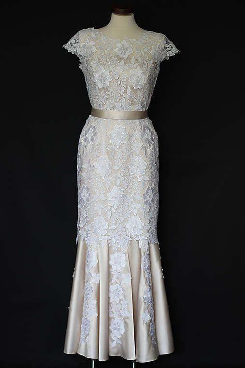 86645b861109 Svadobné šaty strih morská panna z hrubej krajky   Dyona - SAShE.sk ...