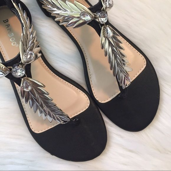 """""""▪️Bling Bling Sandals▪️"""" Brand new, Fabulous black & silver sandals. Size 8 NO TRADES ▪️PRICE IS FIRM▪️ Shoes Sandals"""